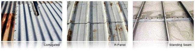 types of metal roofing